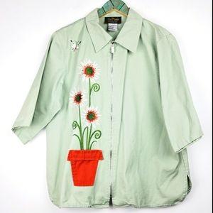 Bob Mackie Wearable Art 3D Flower Pot Jacket Sz Lg